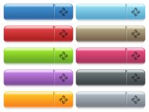 Modules menu button set. Set of modules glossy color menu buttons with engraved icons Stock Image