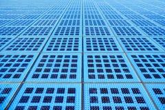 Modules solaires bleus de monument au Sun, Zadar, Croatie Images stock