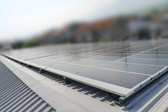 Modules voor duurzame energie stock foto