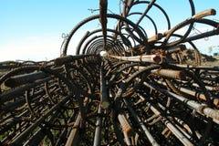 Moduli della colonna del tondo per cemento armato Immagini Stock Libere da Diritti
