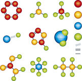 Moduli della molecola Immagine Stock
