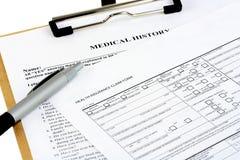 Moduli di assicurazione Fotografia Stock Libera da Diritti