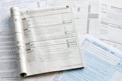 Moduli di imposta degli Stati Uniti Immagine Stock