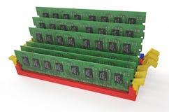 Moduli 5 di memoria DDR3 Fotografia Stock Libera da Diritti