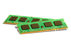Moduli di memoria di accesso casuale Immagine Stock Libera da Diritti