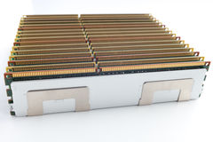Moduli di memoria isolati sui precedenti bianchi Fotografie Stock