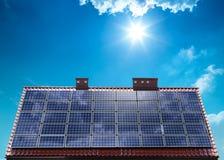 Moduli ecologici fotovoltaici Fotografie Stock