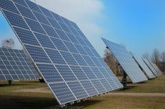 Moduli fotovoltaici Immagine Stock Libera da Diritti