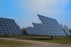 Moduli fotovoltaici Fotografia Stock