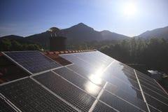 Moduli fotovoltaici Fotografia Stock Libera da Diritti