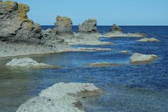 Moduli geologici dalla svezia, Gotland Immagine Stock