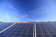 Moduli solari Fotografie Stock