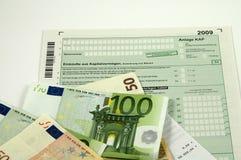 Moduli tedeschi 2009 di imposta Fotografia Stock Libera da Diritti