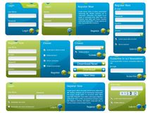 Modulo blu e verde di Web Fotografia Stock Libera da Diritti