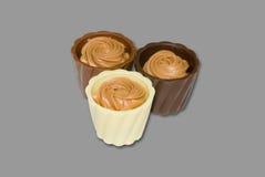 Modulo del cioccolato Fotografie Stock
