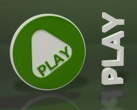 Modulo del gioco su priorità bassa verde scuro Immagini Stock