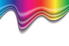 Modulo del liquido del Rainbow Fotografia Stock Libera da Diritti