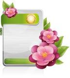 Modulo del metallo con i fiori viola Immagine Stock