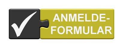 Modulo di domanda del bottone di puzzle Immagine Stock Libera da Diritti