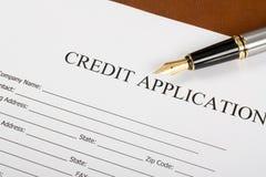 Modulo di domanda di credito Immagini Stock Libere da Diritti