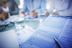 Modulo di domanda Job Interview Employment Concepts Fotografia Stock Libera da Diritti
