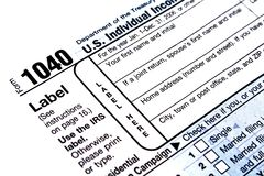 modulo di imposta 1040 Immagini Stock