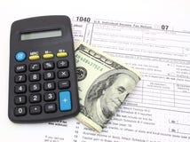 modulo di imposta 1040 Immagine Stock