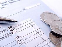 Modulo di imposta sul reddito Fotografia Stock