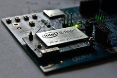 Modulo di Intel Edison Fotografia Stock Libera da Diritti