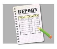 Modulo di rapporto Fotografie Stock
