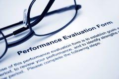 Modulo di valutazione delle prestazioni immagine stock