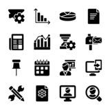 Modulo, insieme di vettori di glifo di presentazione illustrazione di stock