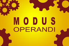 Modus Operandi concept Royalty Free Stock Images