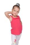 Mody ładna mała dziewczynka zdjęcie stock