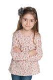 Mody śliczna mała dziewczynka zdjęcia stock