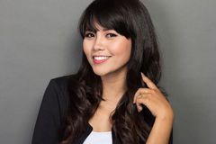 Młody Azjatycki bizneswomanu uśmiech Fotografia Stock