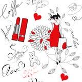 mody bezszwowy deseniowy ilustracja wektor