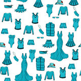 mody bezszwowy deseniowy Grafika styl Obrazy Royalty Free