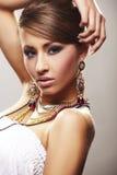 mody biżuterii kobieta Obrazy Royalty Free