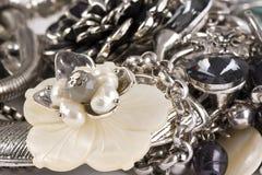 Mody biżuteria makro- Fotografia Royalty Free