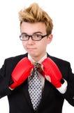 Młody biznesmena bokser Obraz Stock