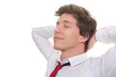 Młody biznesowego mężczyzna relaksować Zdjęcia Royalty Free