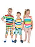 Mody blondynki dzieci wpólnie Obraz Stock
