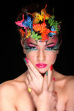 Mody brunetki modela portret Zdjęcie Royalty Free