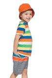 Mody chłopiec chodzi Obraz Royalty Free