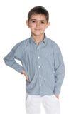 Mody chłopiec przeciw bielowi Obrazy Royalty Free