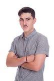 Młody człowiek w studiu Obraz Stock