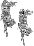 mody dziewczyn typografia Obrazy Stock