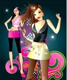 mody dziewczyna dwa Zdjęcie Stock