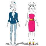 Mody dziewczyna, kobieta Fotografia Stock